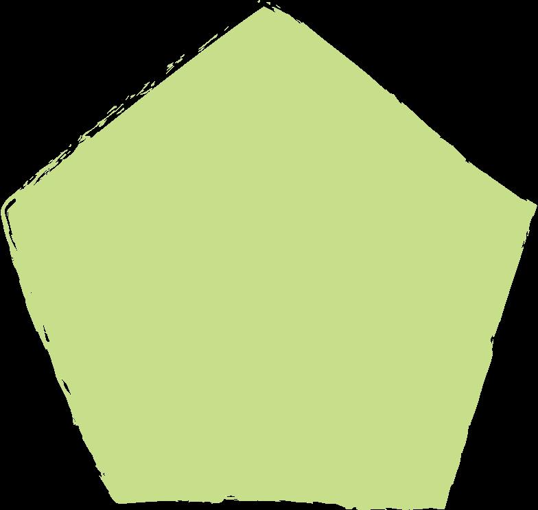 pentagon-light-green Clipart illustration in PNG, SVG