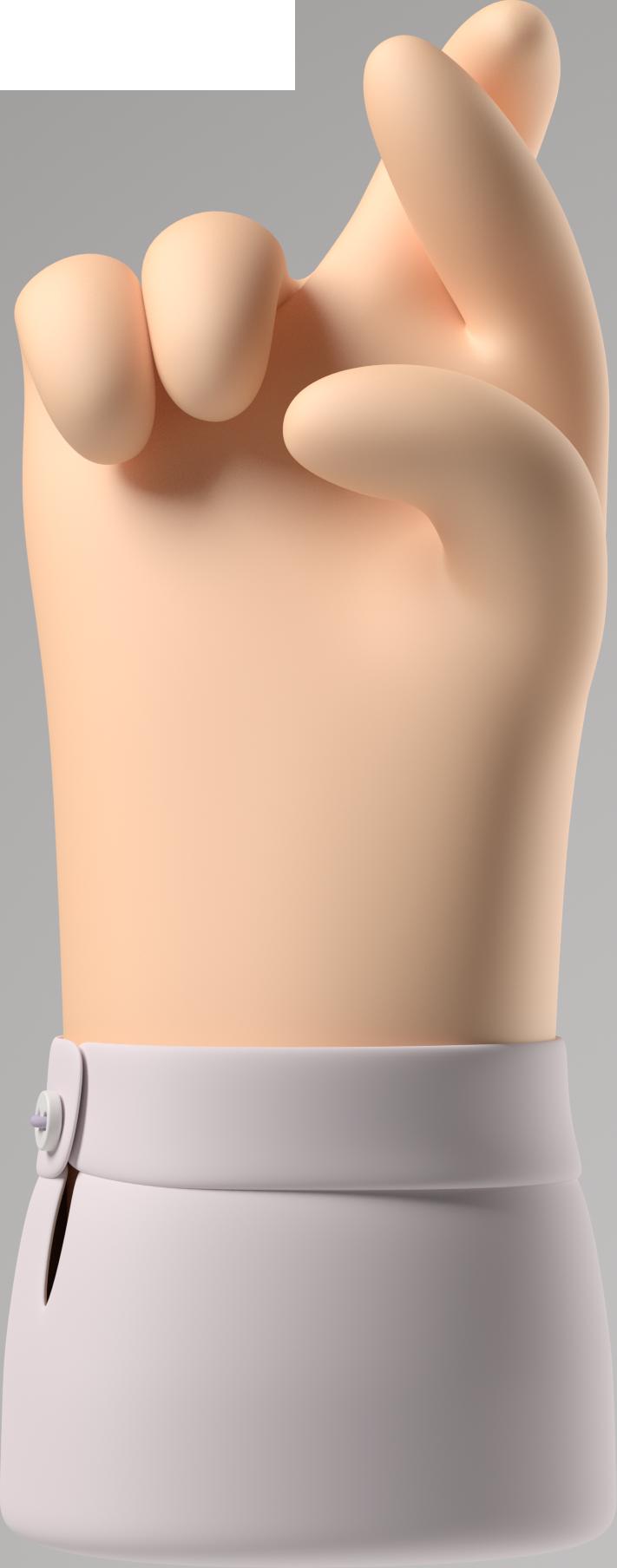Ilustración de clipart de dedos cruzados en PNG, SVG