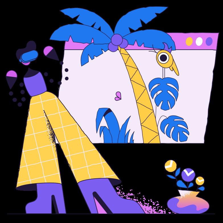 Online excursion Clipart illustration in PNG, SVG