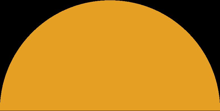 Vektorgrafik im  Stil Halbkreis orange als PNG und SVG | Icons8 Grafiken