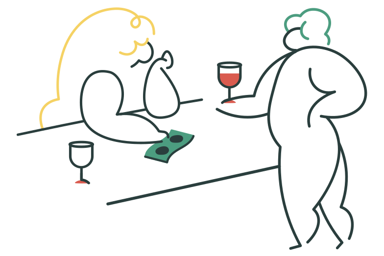 At the bar Clipart illustration in PNG, SVG