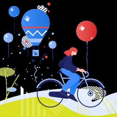 Imágenes de dia internacional de la bicicleta estilo  en PNG y SVG | Ilustraciones Icons8