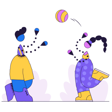 style Children play ball images in PNG and SVG | Icons8 Illustrations