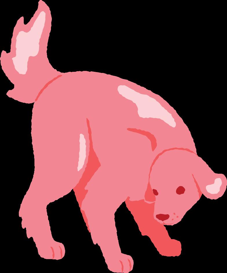 dog sniffing Clipart illustration in PNG, SVG