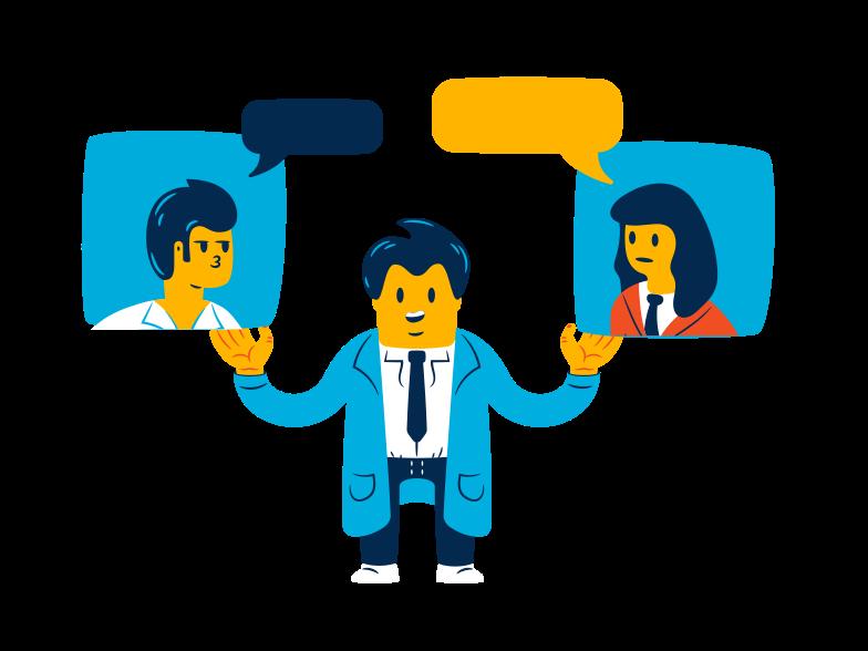 Online session Clipart illustration in PNG, SVG