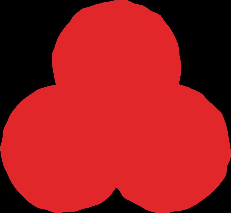 trefoil red Clipart illustration in PNG, SVG