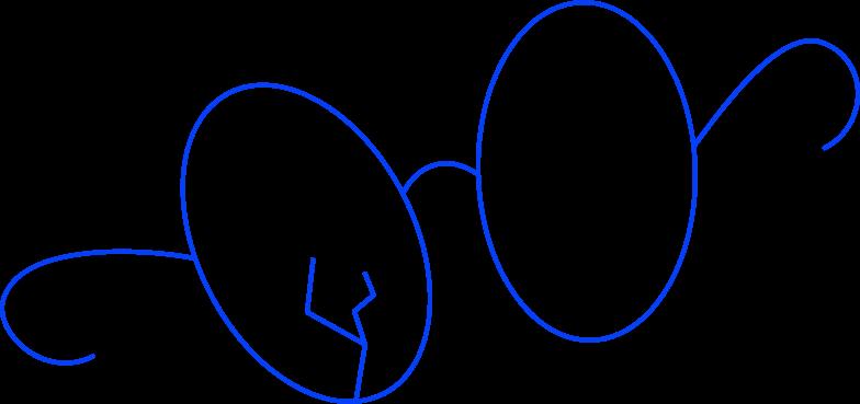 glasses broken Clipart illustration in PNG, SVG