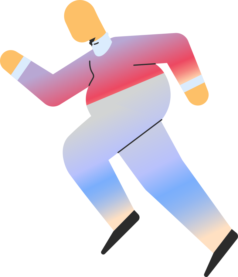 chubby adult running Clipart illustration in PNG, SVG