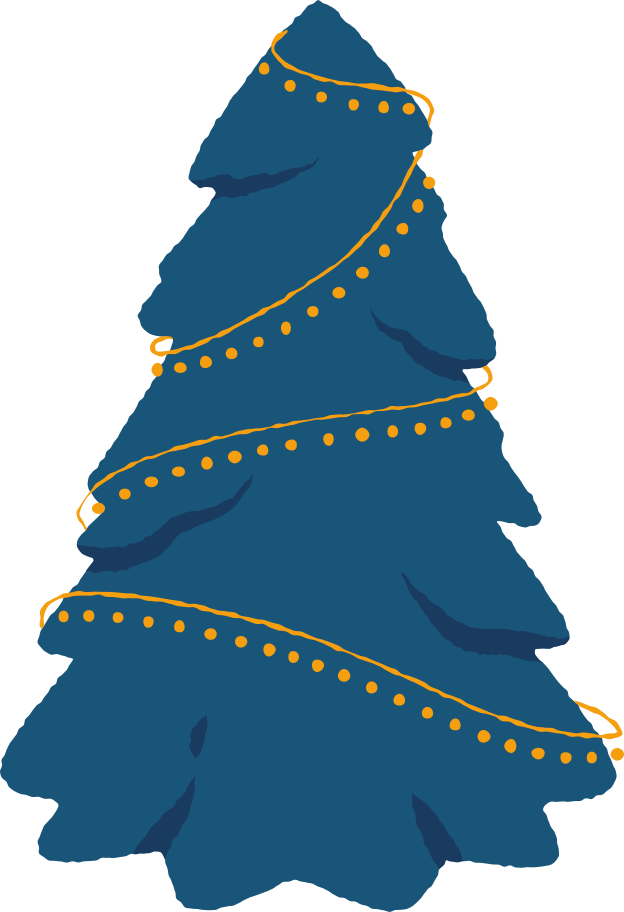 christmas tree no toys Clipart illustration in PNG, SVG