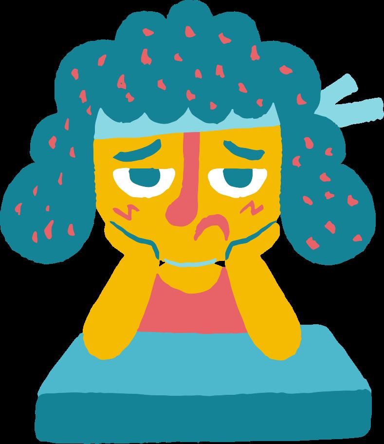 sad girl Clipart illustration in PNG, SVG