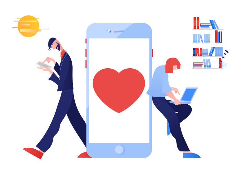 style Couple chatting Vector images in PNG and SVG | Icons8 Illustrations
