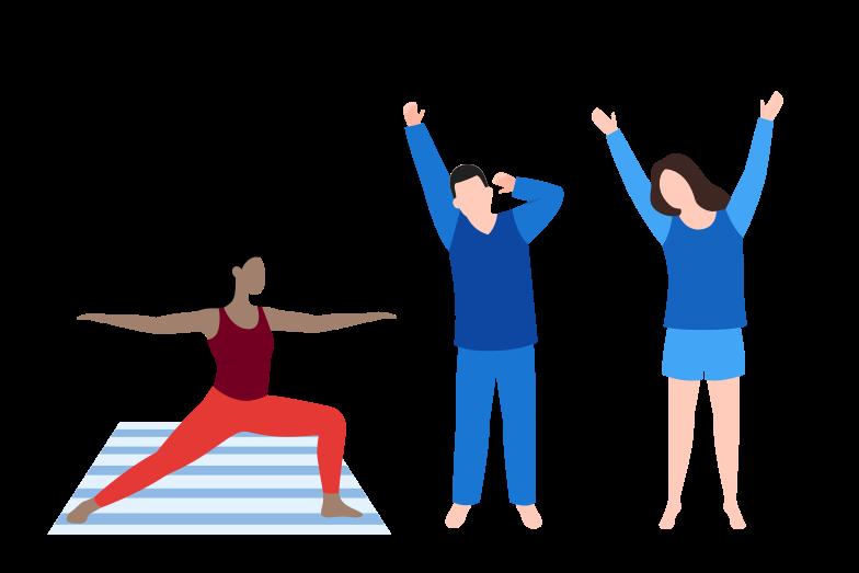 Yoga practice Clipart illustration in PNG, SVG