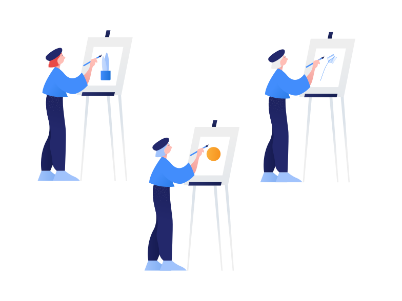Drawing lesson Clipart illustration in PNG, SVG
