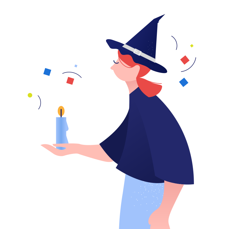 style Witch with candle Vector images in PNG and SVG | Icons8 Illustrations