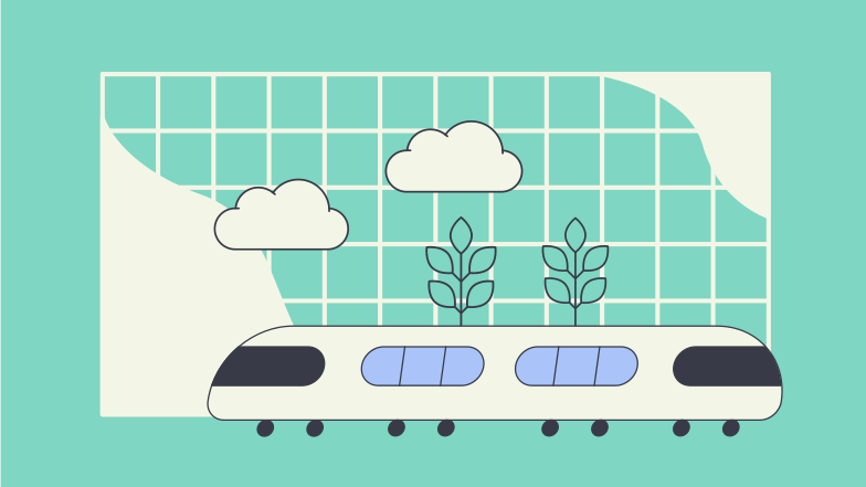 Going by train Clipart illustration in PNG, SVG