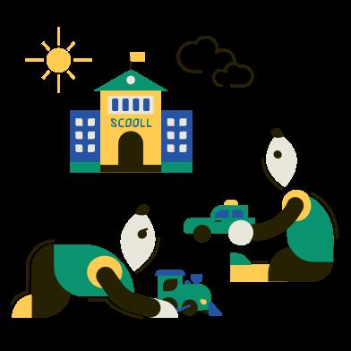 Иллюстрация Детские игры в стиле  в PNG и SVG   Icons8 Иллюстрации