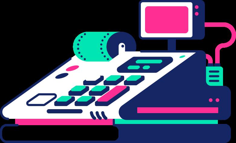 cash register Clipart illustration in PNG, SVG