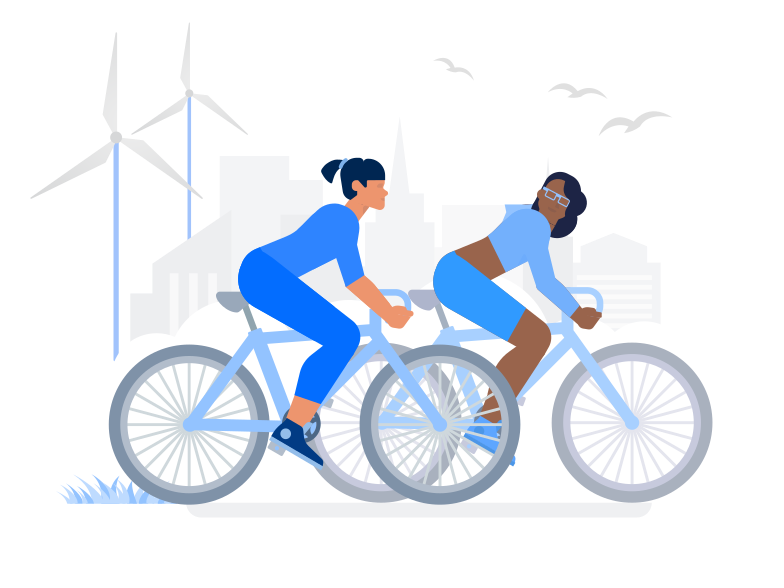Eco City Clipart illustration in PNG, SVG