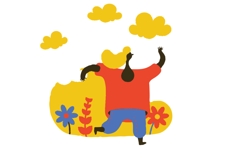 Running outdoor Clipart illustration in PNG, SVG