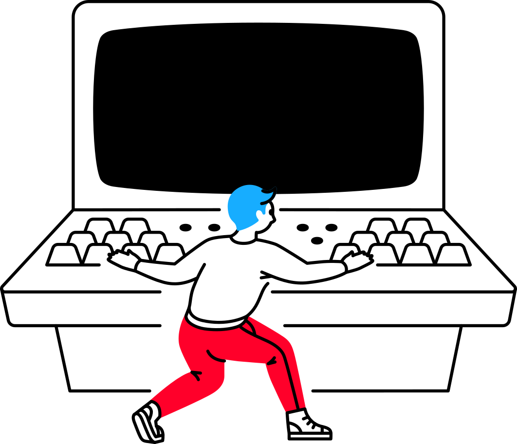 the man at the computer Clipart illustration in PNG, SVG