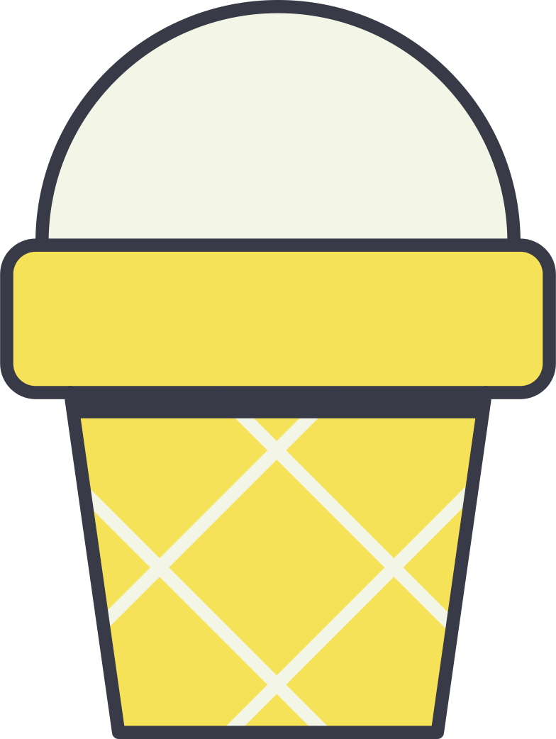 icecream cup Clipart illustration in PNG, SVG