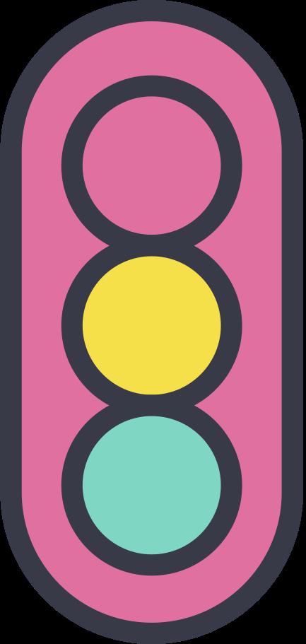 Ilustración de clipart de semáforo en PNG, SVG