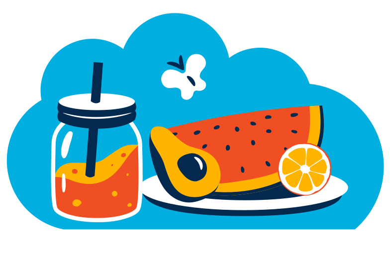 Healthy food Clipart illustration in PNG, SVG