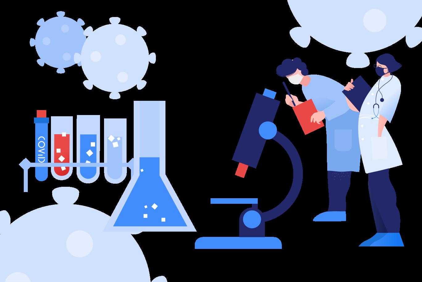 Coronavirus laboratory Clipart illustration in PNG, SVG