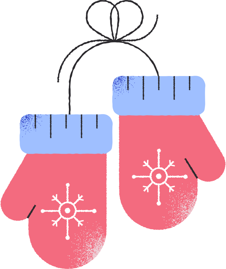 christmas mitten Clipart illustration in PNG, SVG