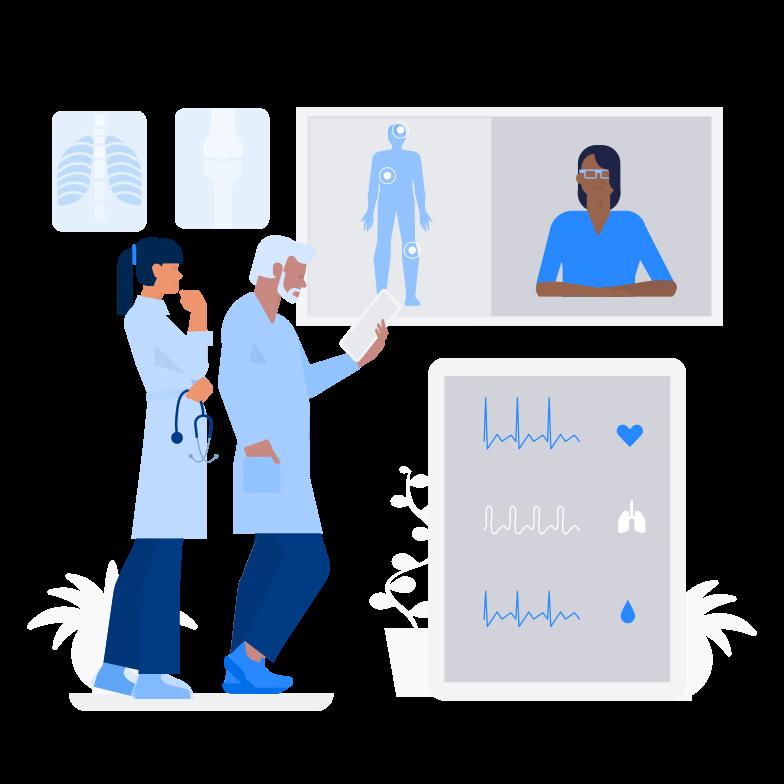 Doctor Online Clipart illustration in PNG, SVG