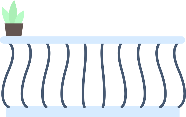 balcony Clipart illustration in PNG, SVG