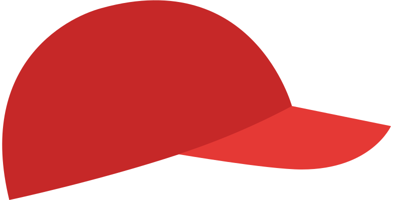 red cap Clipart illustration in PNG, SVG