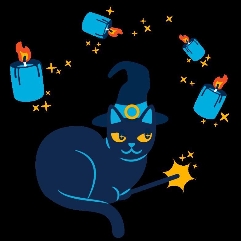 Иллюстрация Ведьмина кошка в стиле  в PNG и SVG | Icons8 Иллюстрации