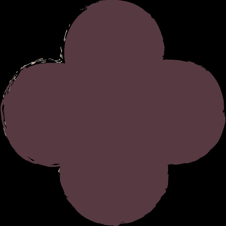 quatrefoil-dark-brown Clipart illustration in PNG, SVG