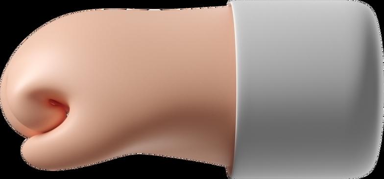 Ilustración de clipart de puño hacia la izquierda en PNG, SVG