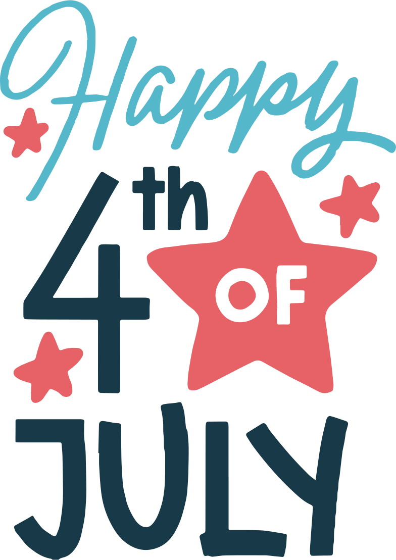happy 4th of july Clipart illustration in PNG, SVG