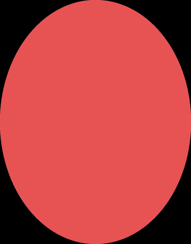 Elipse vermelho Clipart illustration in PNG, SVG