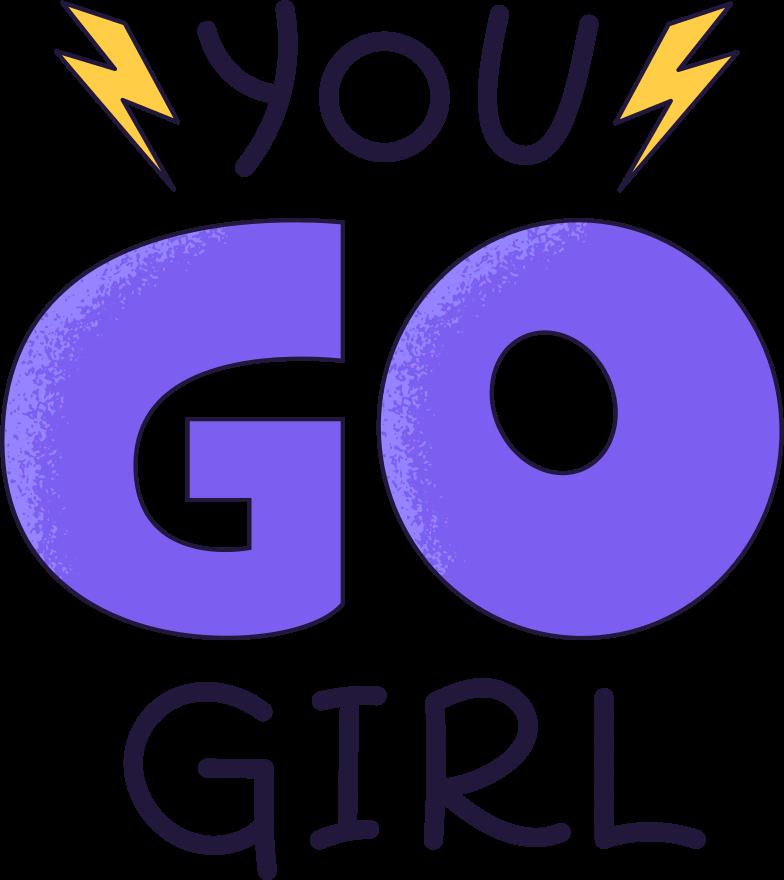 you go girl Clipart illustration in PNG, SVG