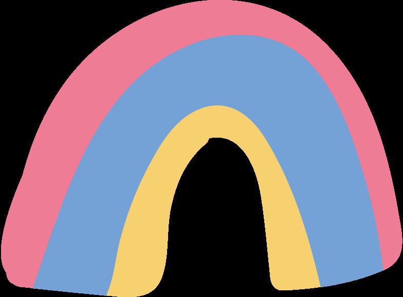 Ilustración de clipart de rainbow en PNG, SVG