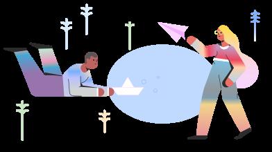 Иллюстрация Каникулы в стиле  в PNG и SVG | Icons8 Иллюстрации