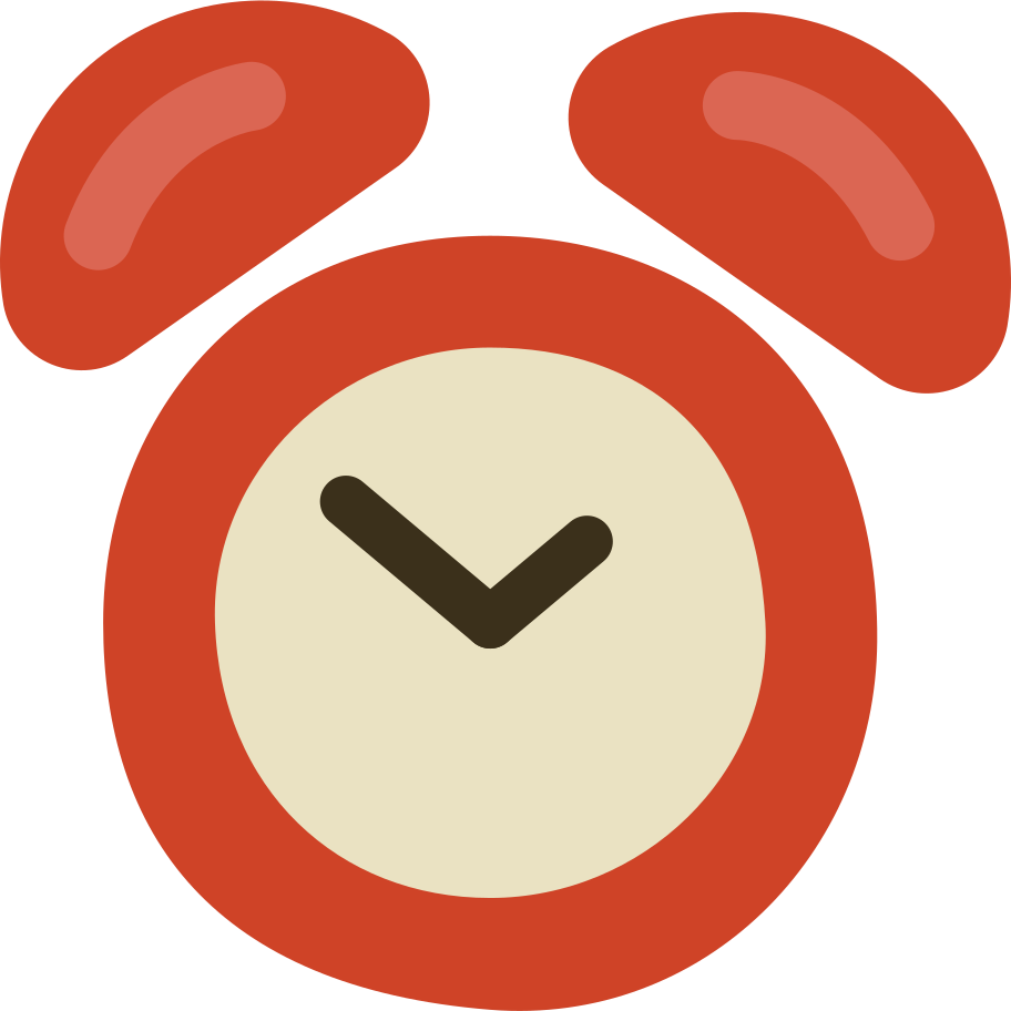 clock alarm Clipart illustration in PNG, SVG
