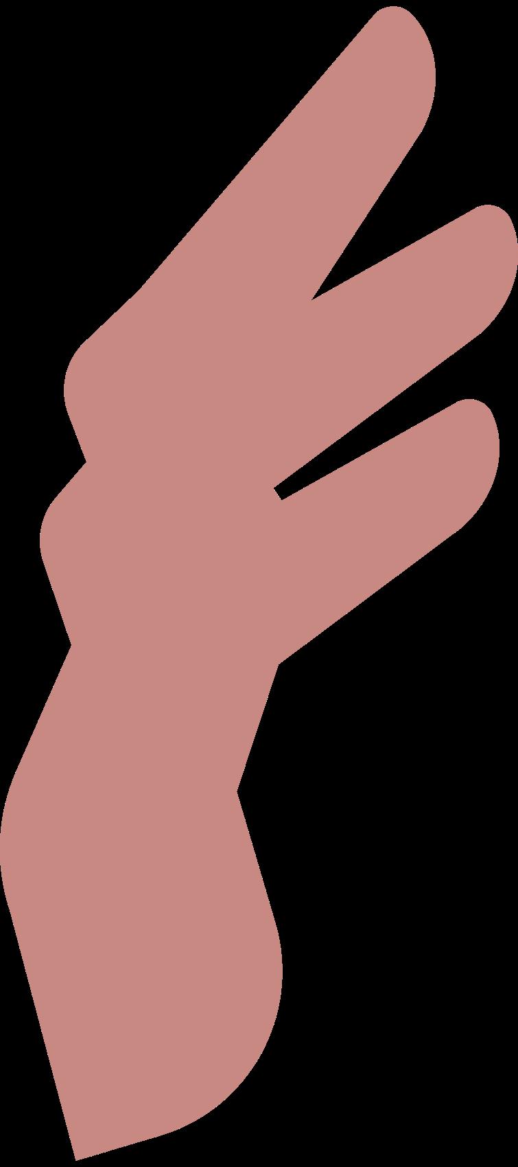 man 4 fingers Clipart illustration in PNG, SVG