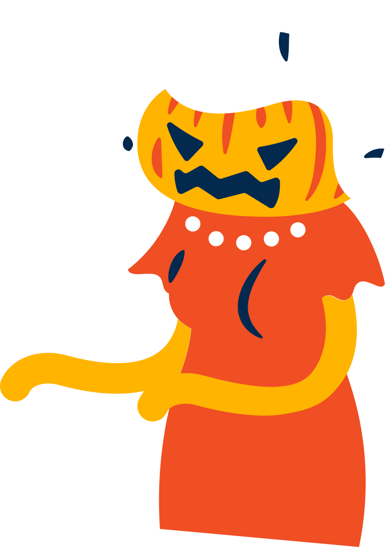 pumpkin woman Clipart illustration in PNG, SVG