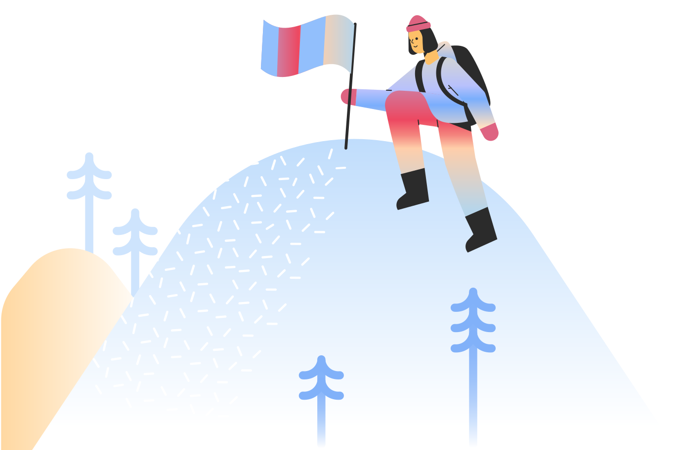 Summit climb Clipart illustration in PNG, SVG