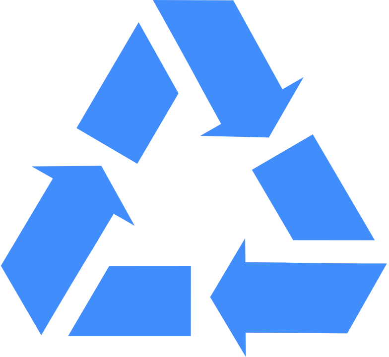 recycling sign Clipart illustration in PNG, SVG