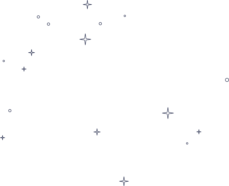 stars in space line Clipart illustration in PNG, SVG