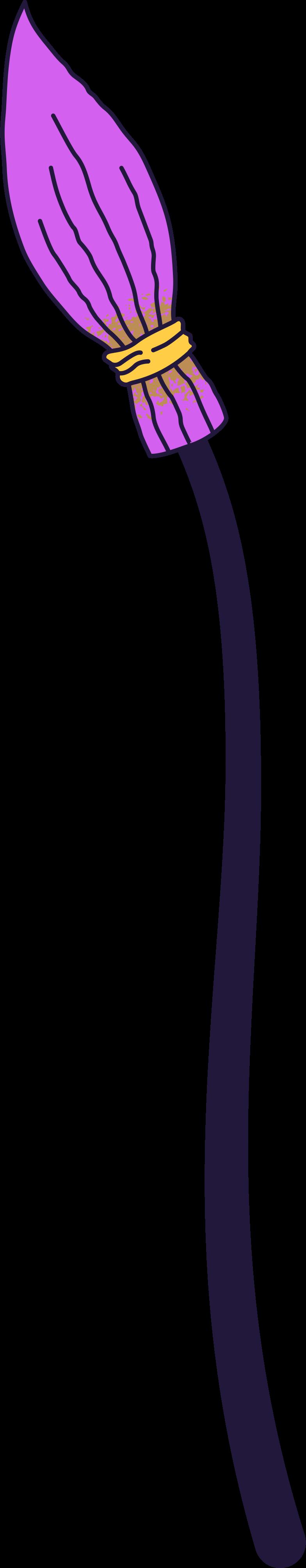 broomstick- Clipart illustration in PNG, SVG
