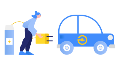 style Electric car charging images in PNG and SVG | Icons8 Illustrations