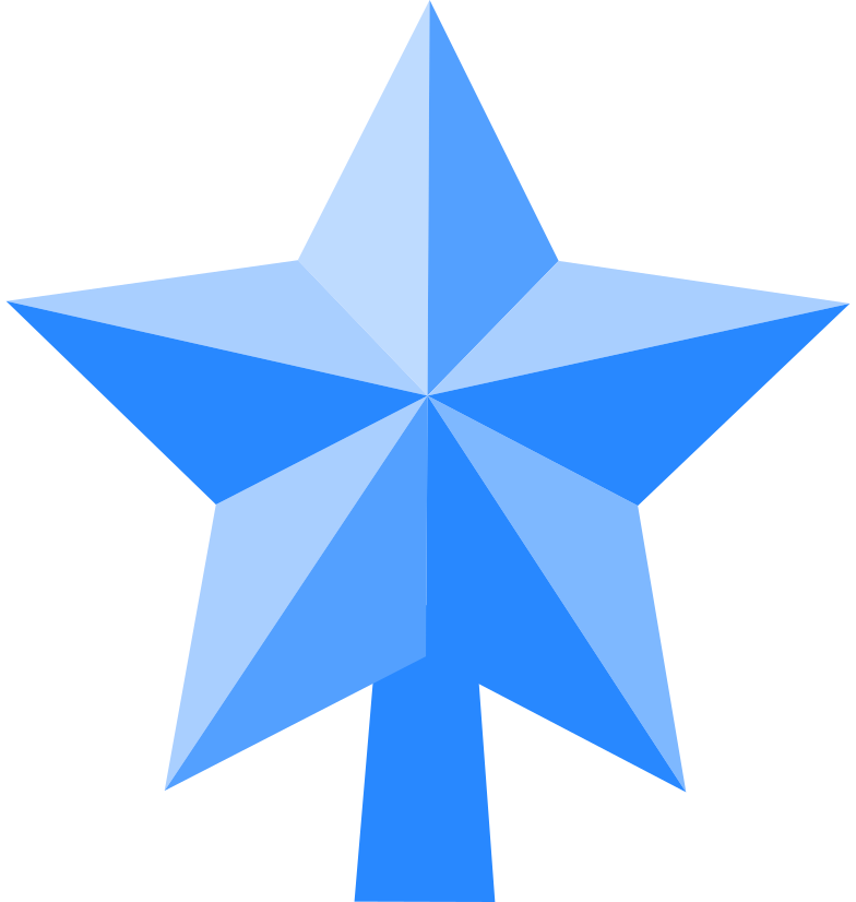 star on new year tree Clipart illustration in PNG, SVG