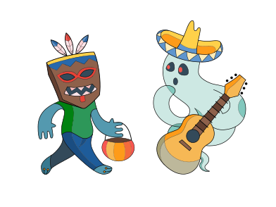 style Halloween activity images in PNG and SVG | Icons8 Illustrations